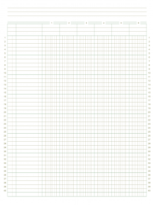 Numbered Graph Paper