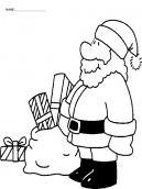 Christmas Coloring Sheets Santa