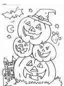 Laughing Pumpkin Coloring Sheets