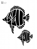 Fish Stencil Paper Crafts