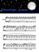 Piano Music Sheets Moonlite Sonata
