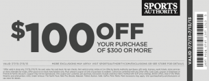 Sports Authority 100 Off