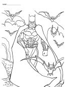 Coloring Pages Batman with Bats
