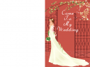 Wedding Invitations Bride at door