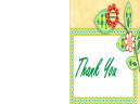 Green Leaf Thank You Cards