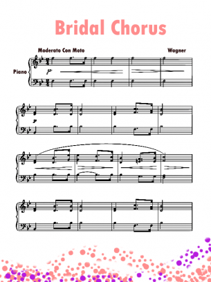 Piano Music Sheets Bridal Chorus