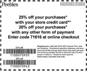 All Active Peebles Promo Codes & Coupons - Up To $75 off in December 2018