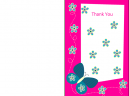 Thank You Cards Pink Butterfly