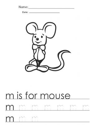 Kindergarten Worksheets M