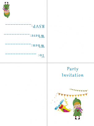 Party Invitations Plane