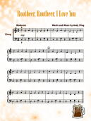 Piano Music Sheets Rootbeer