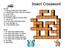 Crossword Puzzles Insects