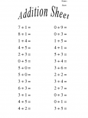 Basic Addition Worksheets