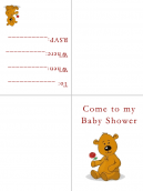Baby Shower Invitations Teddy