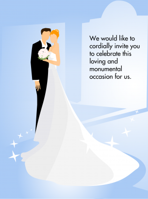 Man Woman Wedding Invitation Card