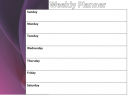 Weekly Planners Purple