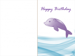 Birthday Cards Dolphins