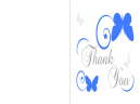 Thank you cards Butterfly