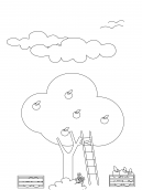 Apple Tree Coloring Sheets