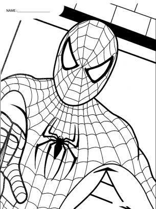 Coloring Sheets Spiderman