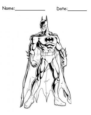 Coloring Pages Batman standing