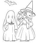 Halloween Coloring Ghost