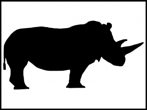 graphic about Rhino Printable known as Paper Stencils Rhino