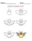 Free Printable Draw a Bat Worksheet