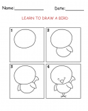 Printable Bird Drawing Worksheet