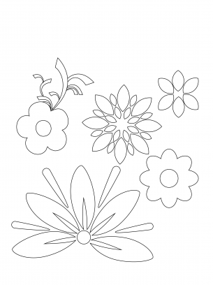 Floral Coloring Sheets