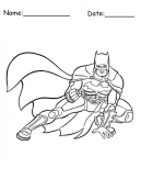 Printable Batman Flying Coloring Sheet