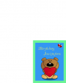 Printable Bear Birthday Invitation