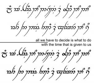 Is All We Have to Decide What to Do with Elvish