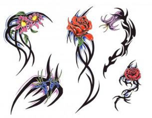 flower tribal tattoos