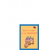 Printable Cake Birthday Invitation