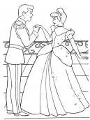 Cinderella & Prince Printable Coloring Sheets