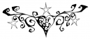 Heart Stars Tattoos for Women
