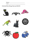 Color Black Lesson Printable Worksheets