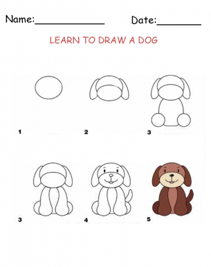 printable activities draw a dog - How To Draw Printables