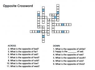 Free Printable Crossword