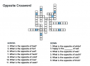 Free Printable Crossword