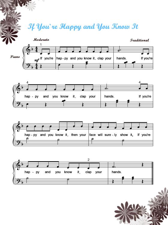 piano sheet music printable