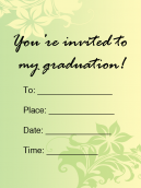 Free Printable Achievement Invitations
