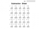 Math Subtraction Pictures Worksheet