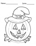 Free Pumpkin Coloring Pages