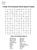 Snow Word Search