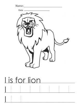 math worksheet : letter l words : Letter L Worksheets For Kindergarten