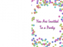 Party Printable Free Template