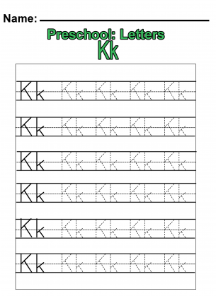 Free Worksheets » Letter K Worksheets For Preschool - Free ...