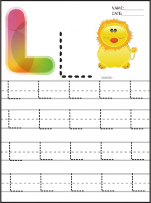 Letter L Writing Practice Worksheets